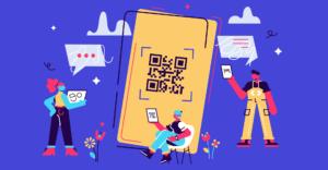 barcone scanner on mobile screen illustration