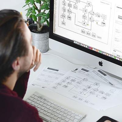 ux designer creating sitemap