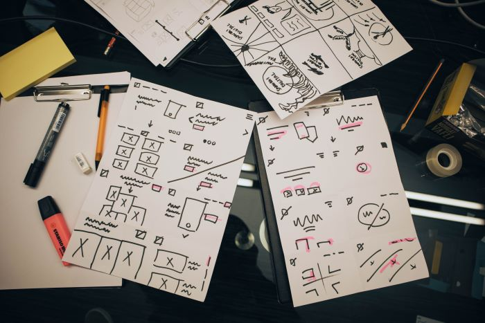 design sprint sketches
